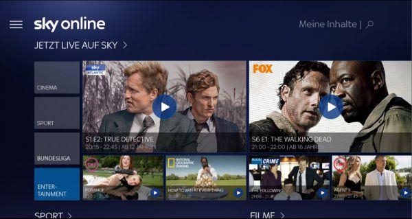 Vorschau Sky Online für Windows 10 - Bild 1