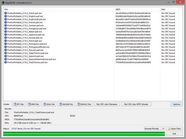 Vorschau Rapid CRC Unicode Portable - Bild 1