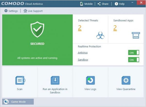 Vorschau Comodo Cloud Antivirus - Bild 1
