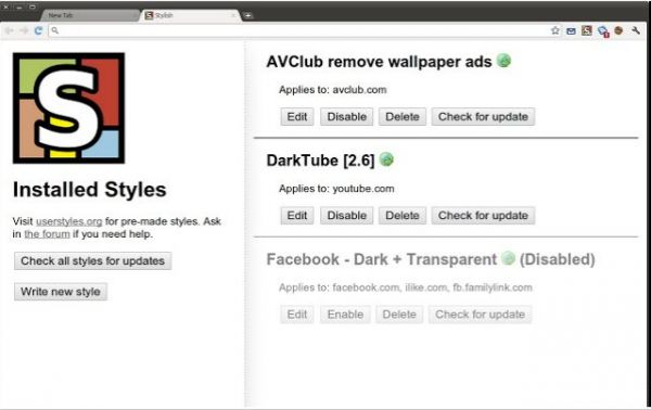 Vorschau Stylish für Chrome Browser - Bild 1