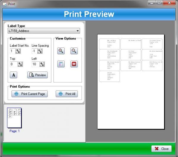 Vorschau SSuite Label Printer - Bild 1