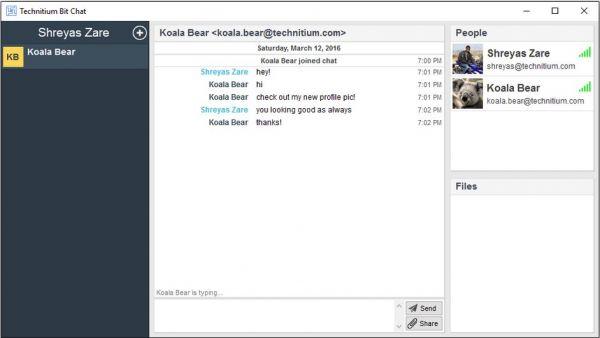Vorschau Technitium Bit Chat - Bild 1