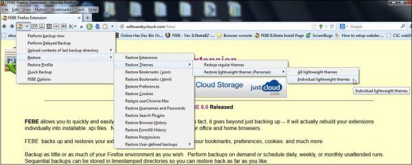 Vorschau Environment Backup für Firefox - Bild 1