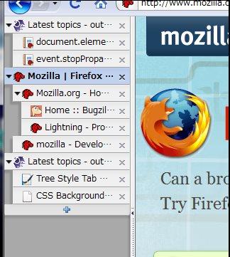 Vorschau Tree Style Tab für Firefox - Bild 1