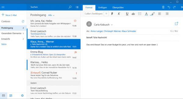 Vorschau Mail Kalender und Kontakte für Windows 8 und 10 - Bild 1