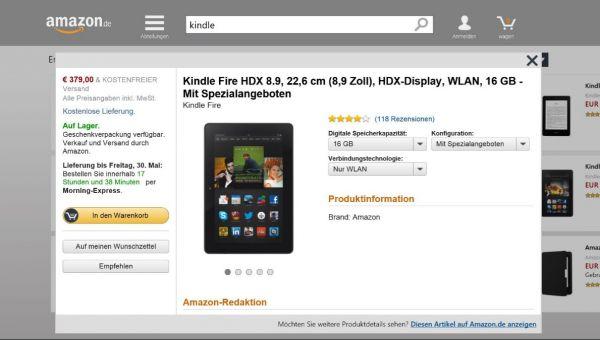 Vorschau Amazon für Windows 8 und 10 - Bild 1