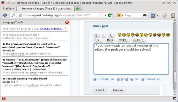 Vorschau LanguageToolFx - Stil- und Grammatikprüfung für Firefox - Bild 1