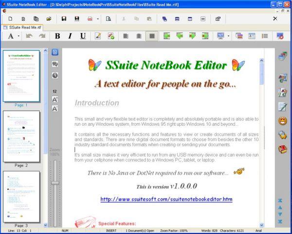 Vorschau SSuite NoteBook Editor - Bild 1