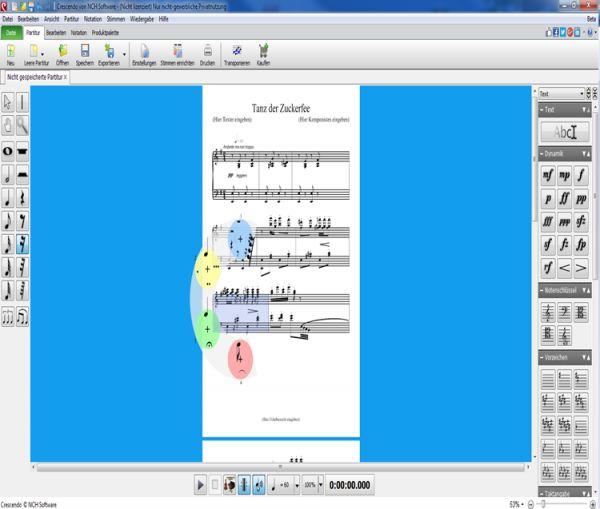 Vorschau Crescendo Notensatz-Editor - Bild 1