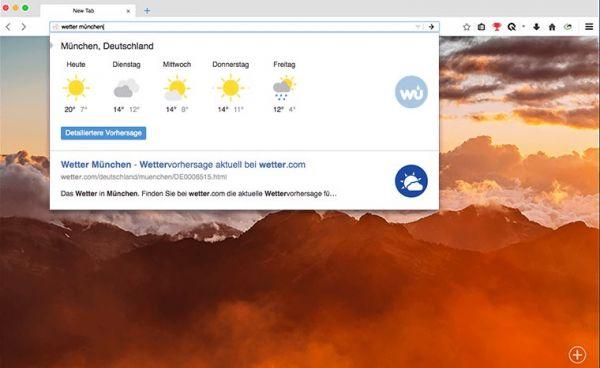 Vorschau Cliqz Browser für Mac - Bild 1