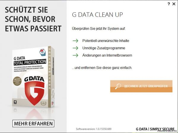 Vorschau G Data Clean Up - Bild 1