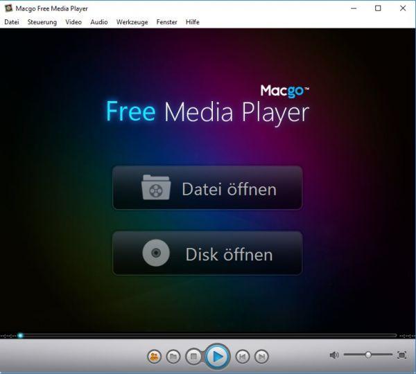 Vorschau Macgo Free Media Player für MAC - Bild 1