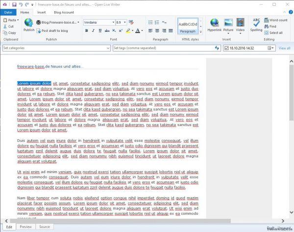 Vorschau Open Live Writer - Bild 1