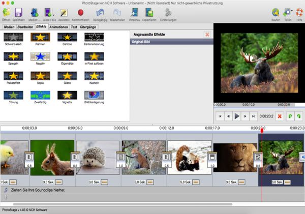 Vorschau PhotoStage Diashow-Programm Mac - Bild 1