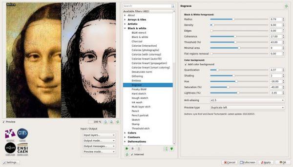 Vorschau GMIC plug-in for GIMP - Bild 1