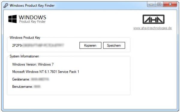 Vorschau Windows Product Key Finder - Bild 1