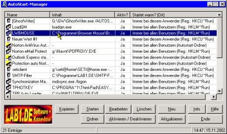 Vorschau Autostart-Manager 3.0 - Bild 1