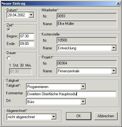 Vorschau Projektzeitenmanager - Bild 1