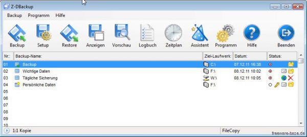 Vorschau Z-DBackup - Bild 1