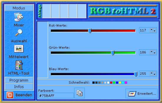 Vorschau RGBtoHTML 2 1.3 - Bild 1