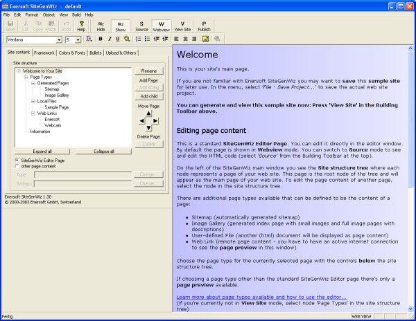 Vorschau Enersoft SiteGenWiz 1.30 - Bild 1