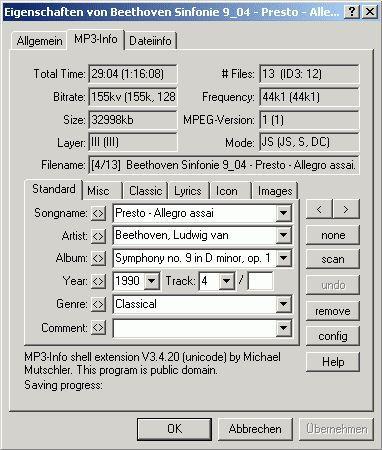 Vorschau MP3 Info Shell Extension 3.4.23 - Bild 1