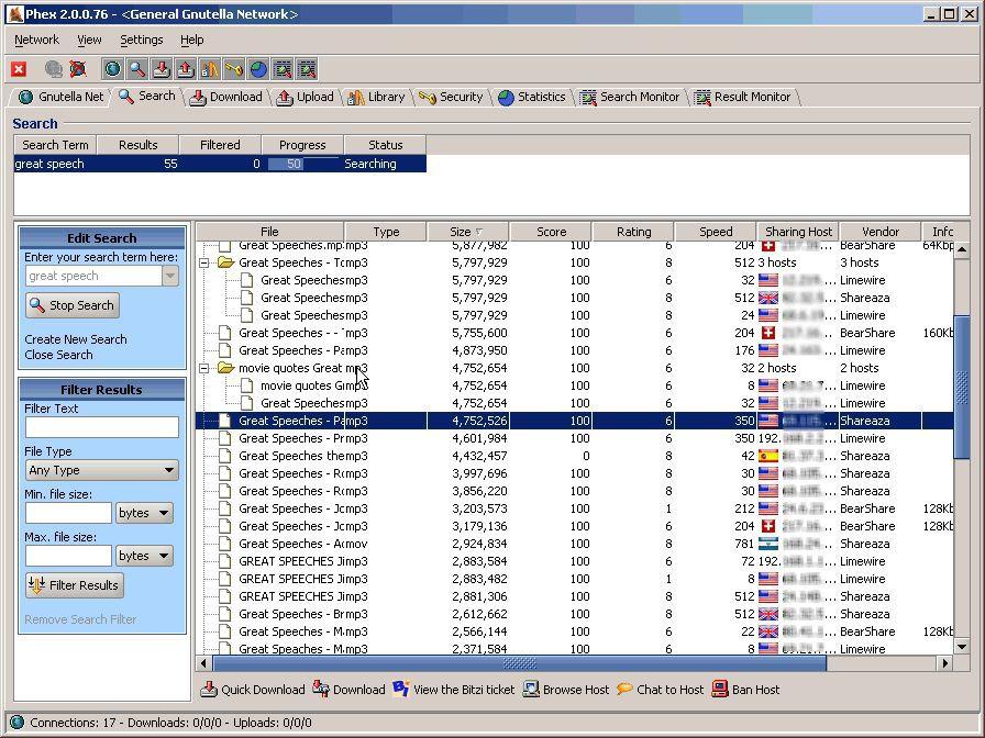 Vorschau Phex - the P2P filesharing client - Bild 2