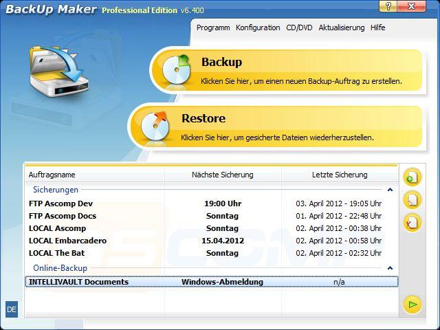 Vorschau BackUp Maker - Bild 2