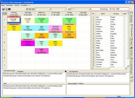 Vorschau Lehrer-Noten-Kalender - Bild 2