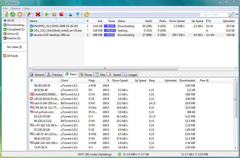 Vorschau uTorrent µTorrent - Bild 2