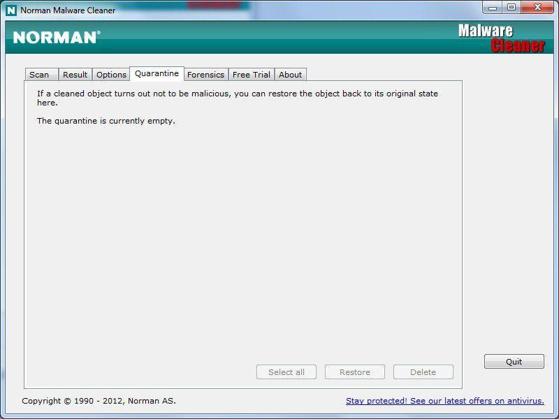 Vorschau Norman Malware Cleaner - Bild 2