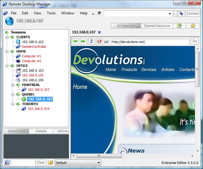 Vorschau Remote Desktop Manager - Bild 2