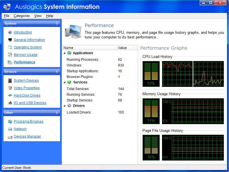 Vorschau AusLogics System Information - Bild 2