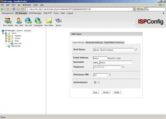 Vorschau ISPConfig Hosting Control Panel - Bild 2