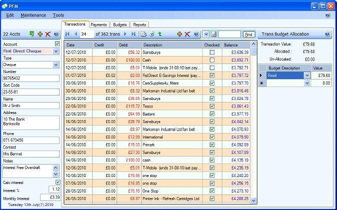 Vorschau PFM Personal Finance Manager - Bild 2