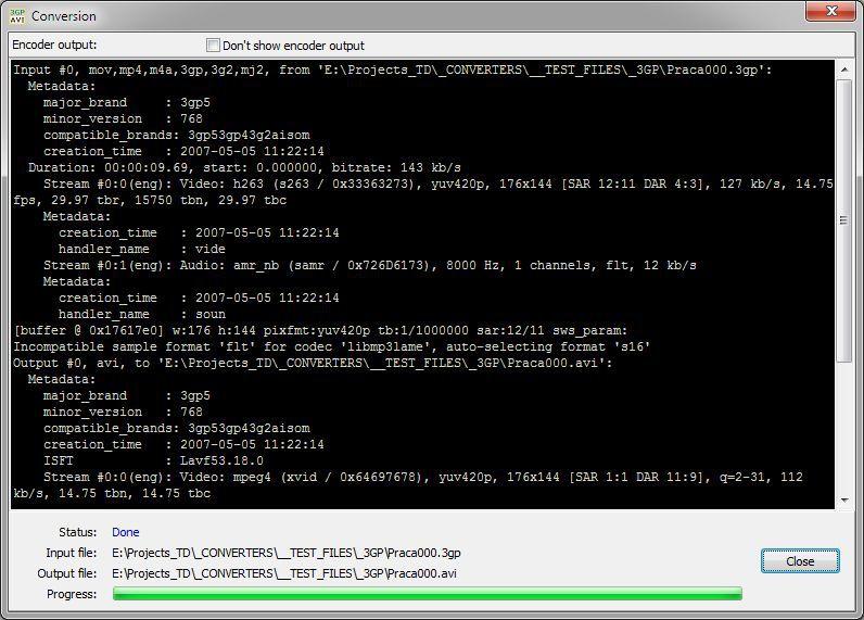 Vorschau Pazera Free 3GP to AVI Converter - Bild 2