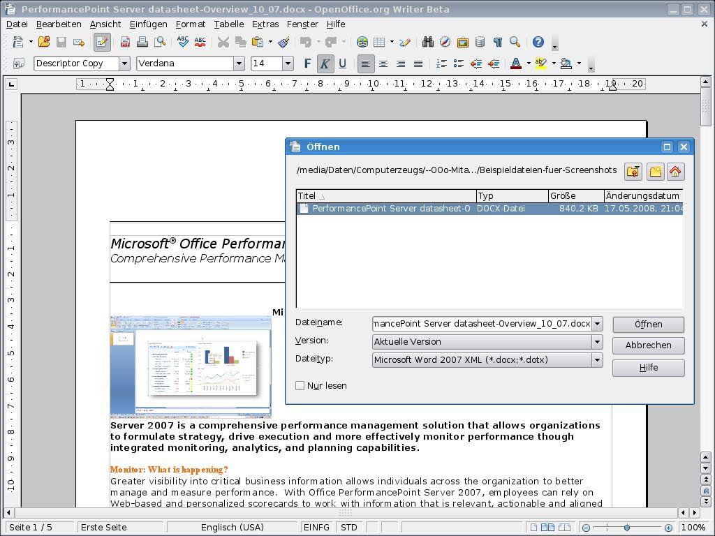 Vorschau Apache OpenOffice - Bild 2