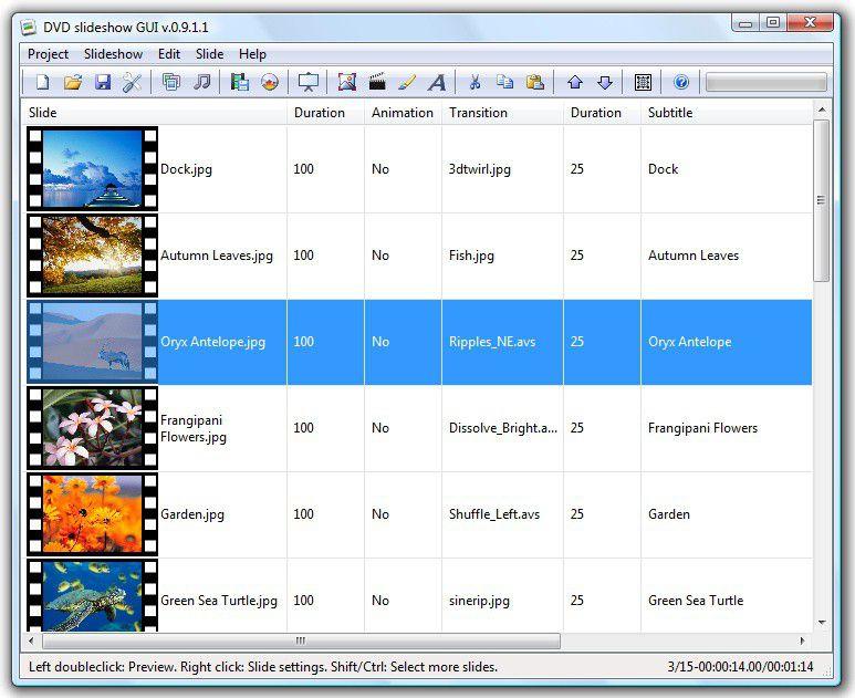 Vorschau DVD Slideshow GUI - Bild 2