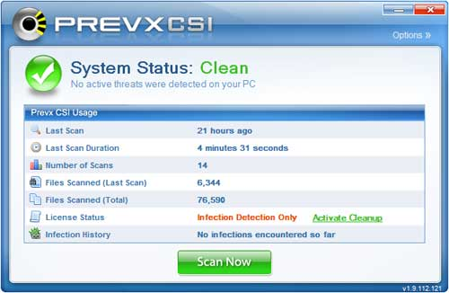 Vorschau Prevx CSI - Free Malware Scanner - Bild 2