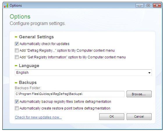 Vorschau Quicksys RegDefrag Portable Version - Bild 2
