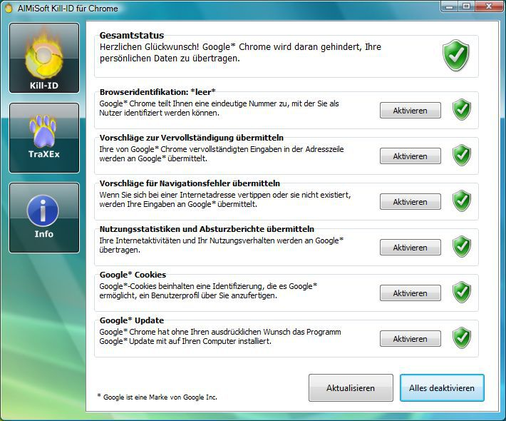 Vorschau Kill-ID fuer Chrome - Bild 2