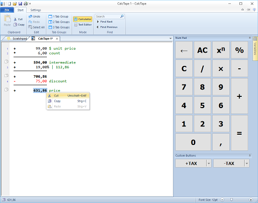 Vorschau SFR CalcTape - Bild 2