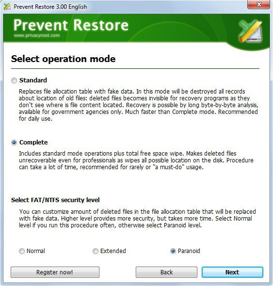 Vorschau Prevent Restore - Bild 2