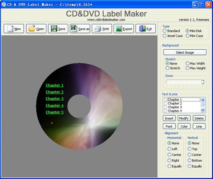 Vorschau CD and DVD Label Maker - Bild 2