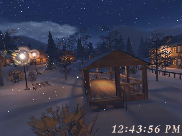 Vorschau Free 3D Christmas Night Screensaver - Bild 2