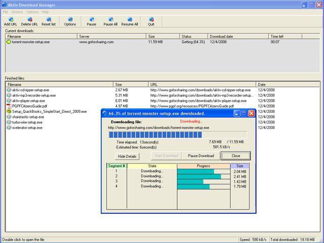 Vorschau Aktiv Download Manager - Bild 2