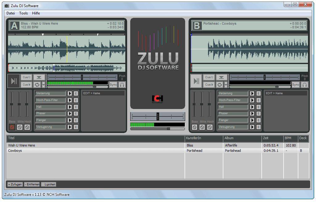 Vorschau Zulu Kostenlose DJ-Software - Bild 2
