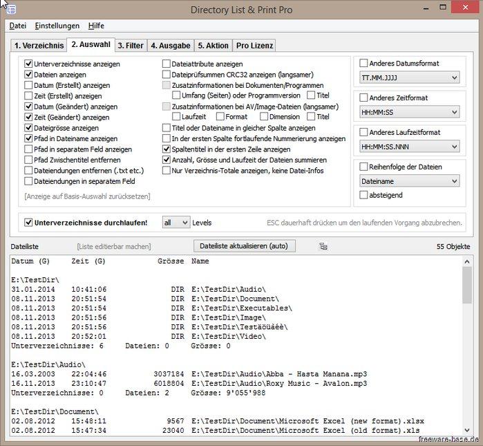 Vorschau Directory List und Print - Bild 2