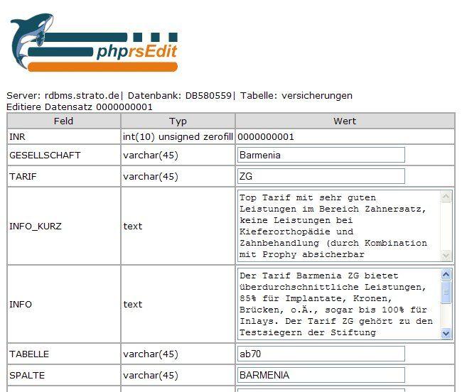 Vorschau phprsEdit - Bild 2