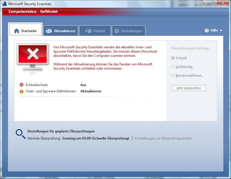 Vorschau Microsoft Security Essentials - Bild 2